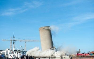 Sprængningen af cementsiloen på sydhavnen